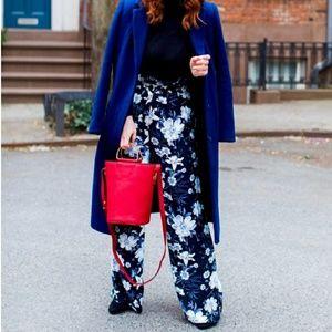 •Who What Wear• Floral Wide Leg Paper Bag Pants